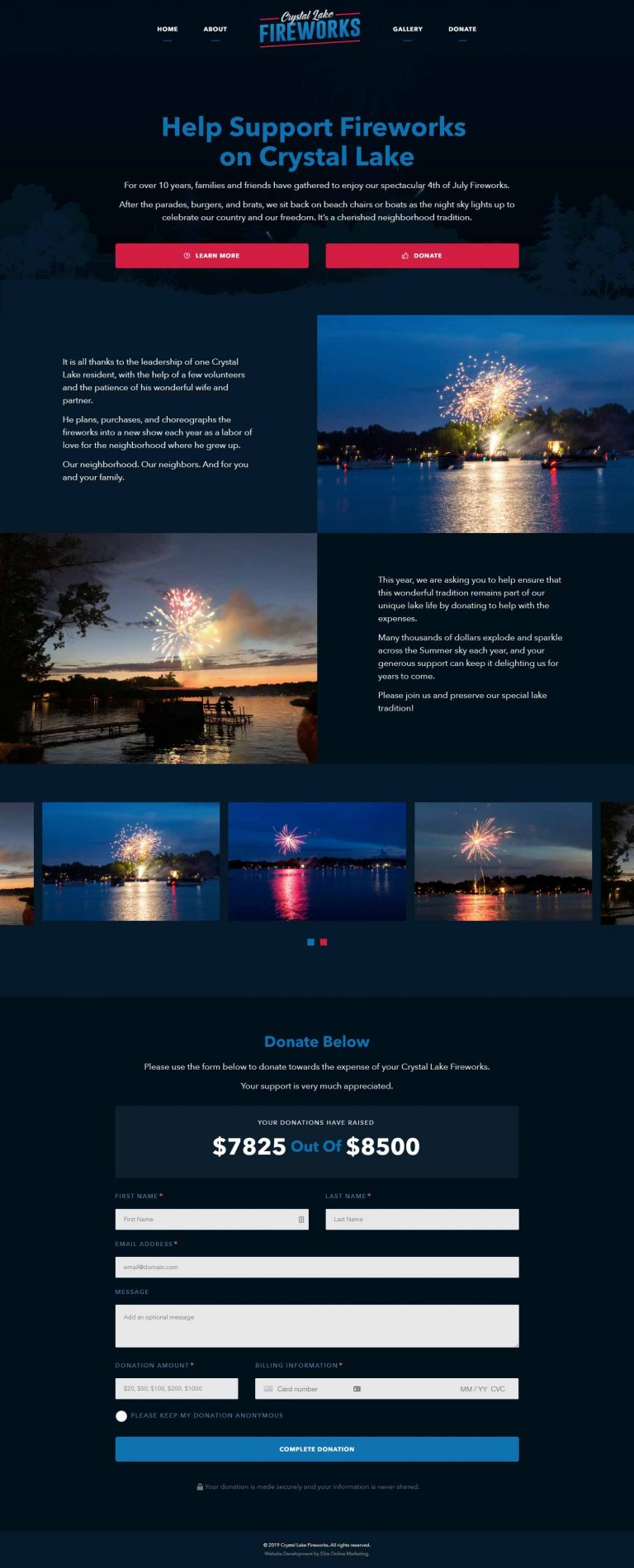 Elite Online Marketing - Crystal Lake Fireworks